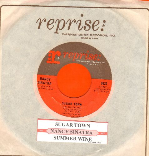 Sinatra, Nancy - Sugar Town/Summer Wine (withjuke box label and vintage Reprise company sleeve) - NM9/ - 45 rpm Records