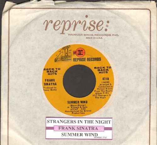 Sinatra, Frank - Summer Wind/Strangers In The Night (authentic-looking double-hit re-issue with juke box label and Reprise company sleeve) - EX8/ - 45 rpm Records