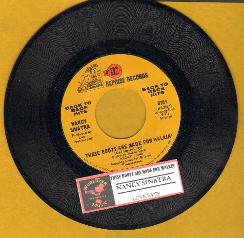 Sinatra, Nancy - These Boots Are Made For Walkin' (Juke Box Favorite!)/Love Eyes (authentic-looking double-hit re-issue with juke box label) - NM9/ - 45 rpm Records