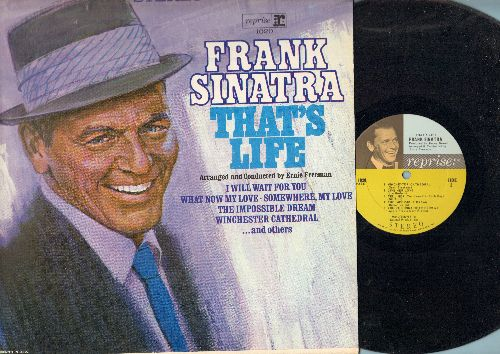 Sinatra, Frank - That's Life: I Will Wait For You, Somwhere My Love, Winchester Cathedral, Tell Her (You Love Her Each Day), The Impossible Dream (Vinyl STEREO LP record, NICE condition!)  - NM9/NM9 - LP Records