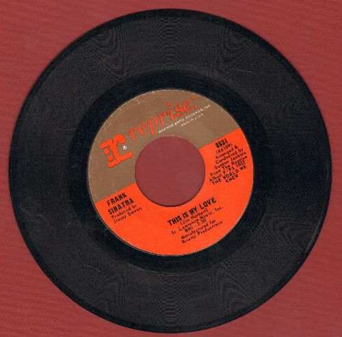 Sinatra, Frank - This Is My Love/This Town  - EX8/ - 45 rpm Records