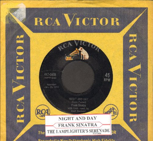 Sinatra, Frank - Night And Day/The Lamplighter's Serenade (with vintage RCA company sleeve) - EX8/ - 45 rpm Records