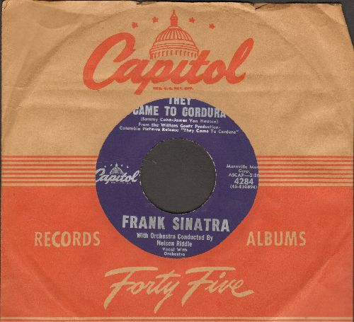 Sinatra, Frank - They Came To Cordura/Talk To Me (with vintage Capitol company sleeve) - NM9/ - 45 rpm Records