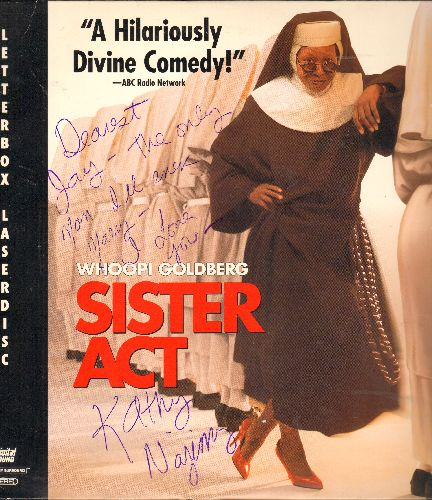 Sister Act - Sister Act - The Classic Comedy starring Oscar Winner Whoopi Goldberg on LASER DISC (Letterbox Format) - With PERSONALIZED AUTOGRAPH by Kathy Najimy! - NM9/EX8 - Laser Discs