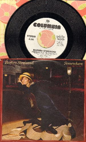 Streisand, Barbra - Somewhere (from -West Side Story-) (double-A-sided DJ advance pressing with picture sleeve) - NM9/EX8 - 45 rpm Records