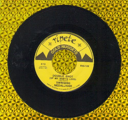 Swingin' Medallions - Double Shot (Of My Baby's Love)/Polk Salad Annie (by Tony Joe White on flip-side) (re-issue) - EX8/ - 45 rpm Records