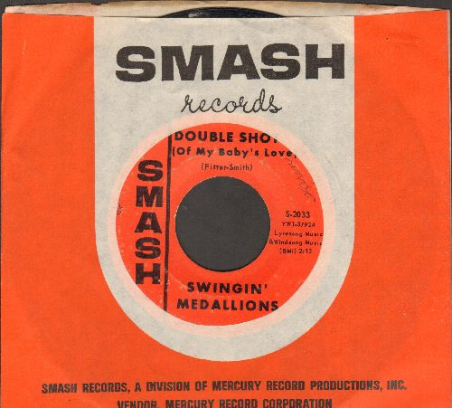 Swinging Medallions - Double-Shot (Of My Baby's Love)/Here It Comes Again (with Smash company sleeve) - VG7/ - 45 rpm Records