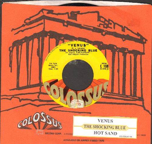 Shocking Blue - Venus/Hot Sand (with juke box label and RARE Colossus company sleeve) - NM9/ - 45 rpm Records