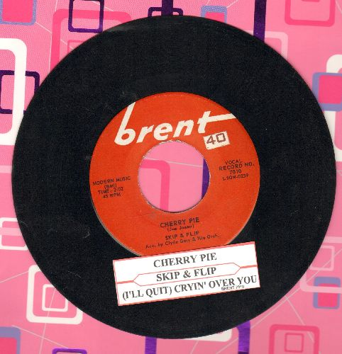 Skip & Flip - Cherry Pie (FANTASTIC 50's Teen-Idol Sound!)/Cryin' Over You (with juke box label) - EX8/ - 45 rpm Records