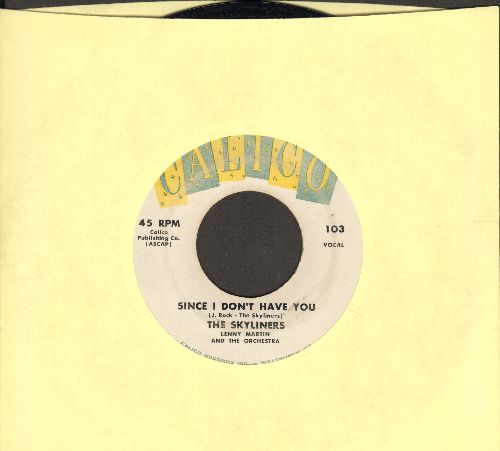 Skyliners - Since I Don't Have You/One Night, One Night (yellow/blue/white label first issue) - VG7/ - 45 rpm Records