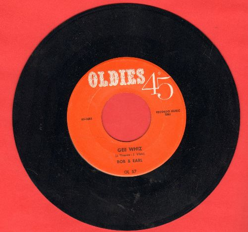 Bob & Earl - Gee Whiz/Zing, Zing, Zing (by The Dells on flip-side) (double-hit re-issue) - NM9/ - 45 rpm Records