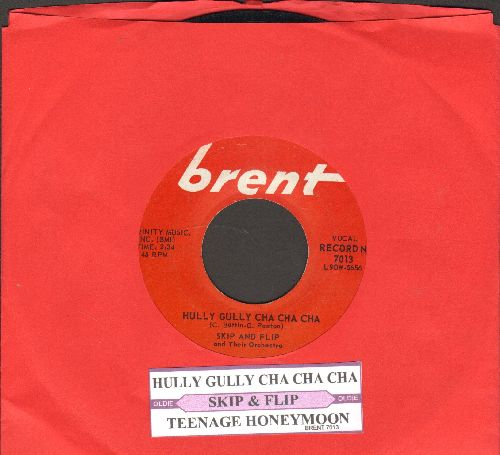Skip & Flip - Hully Gully Cha Cha Cha/Teenage Honeymoon (with juke box label) - EX8/ - 45 rpm Records
