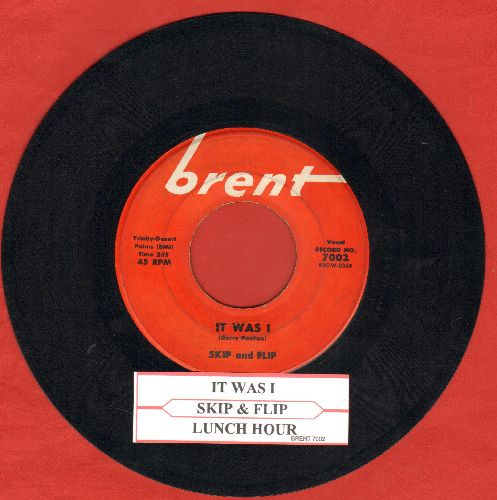 Skip & Flip - It Was I/Lunch Hour (with juke box label) - VG7/ - 45 rpm Records