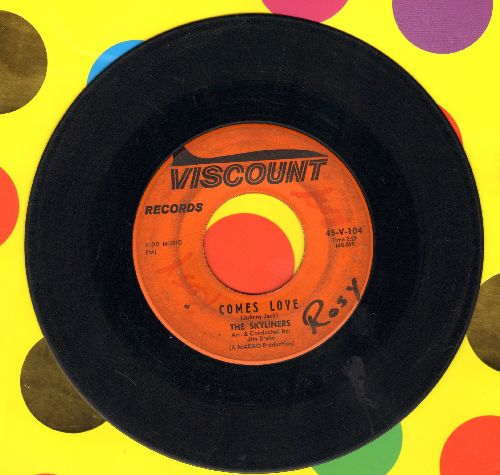 Skyliners - Comes Love/Tell Me (wol) - VG7/ - 45 rpm Records