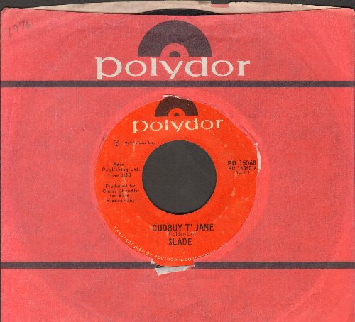Slade - I Won't Let It 'Appen Agen/Guduy T' Jane (with Polydor company sleeve) - VG7/ - 45 rpm Records