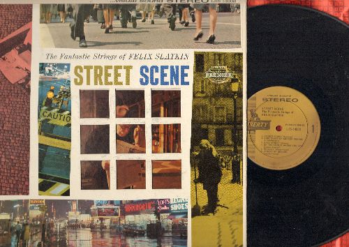 Slatkin, Felix - Street Scene: Boulevard Of Broken Dreams, Easy Street, Pigalle, Lonely Street, The Lonesome Road (Vinyl STEREO LP record, DJ advance pressing, gate-fold cover) - NM9/EX8 - LP Records