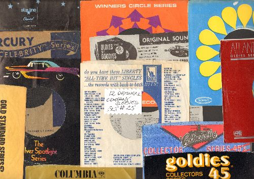 Company Sleeves - 12 Vintage Company Sleeves - Set #012-25 (exactly as pictured!) - Dress up your 7 inch vinyl re-issue 45s in their original company sleeves . Good to excellent condition. - /EX8 - Supplies