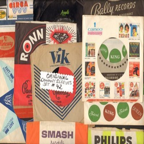 Company Sleeves - 12 Vintage Company Sleeves - Set #012-42 (exactly as pictured!) - Dress up your 7 inch vinyl records in original company sleeves of the 1950s & 60s. Good to excellent condition. - /EX8 - Supplies