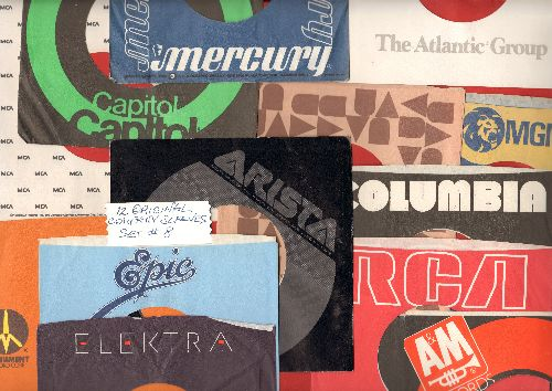 Company Sleeves - 12 Vintage Company Sleeves - Set #012-8 (exactly as pictured!) - Dress up your 7 inch vinyl records in original company sleeves of the 1970s & 80s. Good to excellent condition. - /EX8 - Supplies