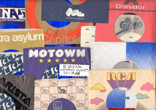 Company Sleeves - 12 Vintage Company Sleeves - Set #012-26 (exactly as pictured!) - Dress up your 7 inch vinyl records in original company sleeves of the 1950s & 60s. Good to excellent condition. - /EX8 - Supplies