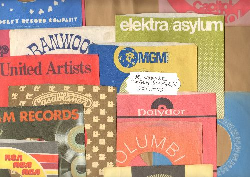 Company Sleeves - 12 Vintage Company Sleeves - Set #012-33 (exactly as pictured!) - Dress up your 7 inch vinyl records in original company sleeves of the 1950s & 60s. Good to excellent condition. - /EX8 - Supplies