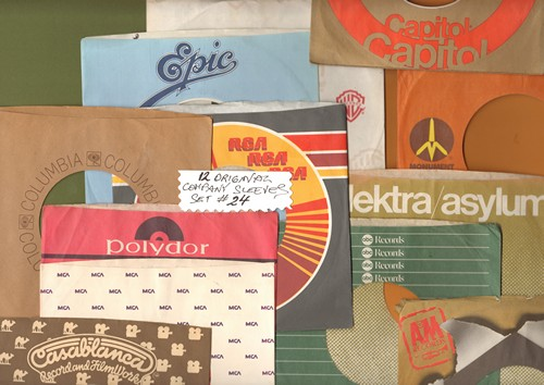 Company Sleeves - 12 Vintage Company Sleeves - Set #012-24 (exactly as pictured!) - Dress up your 7 inch vinyl records in original company sleeves of the 1960s & 70s. Good to excellent condition. - /EX8 - Supplies