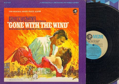 Steiner, Max - Gone With The Wind - The Original Soundtrack Album, Music composed and conducted by Max Steiner (vinyl STEREO LP record) - NM8/EX8 - LP Records