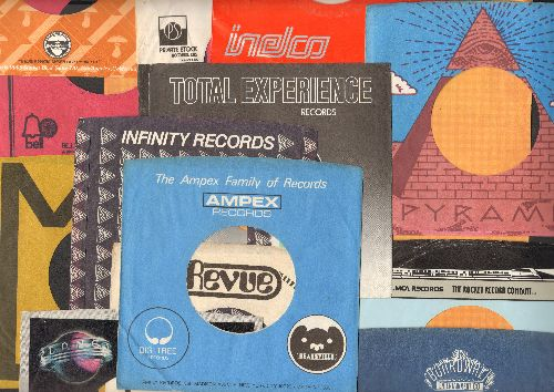 Company Sleeves - 12 Vintage Company Sleeves - Set #012-13 (exactly as pictured!) - Dress up your 7 inch vinyl records in these less common original company sleeves of the 1970s. Excellent condition. - /EX8/EX8 - Supplies