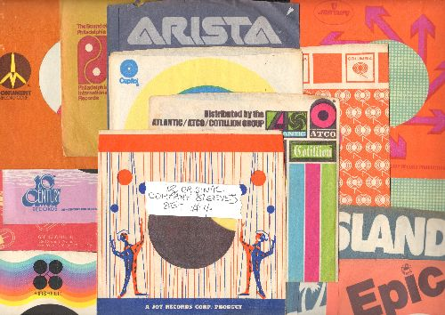 Company Sleeves - 12 Vintage Company Sleeves - Set #012-4 (exactly as pictured!) - Dress up your 7 inch vinyl records in original company sleeves of the 1960s & 70s. Good to excellent condition. - /EX8/EX8 - Supplies