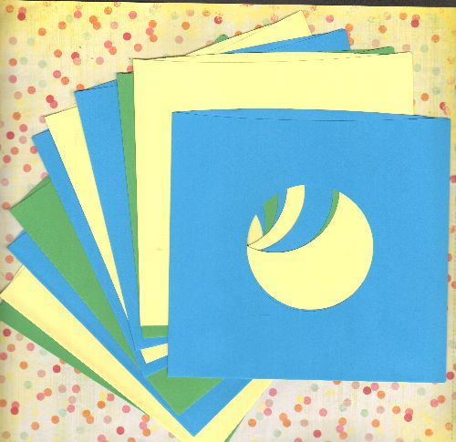 Paper Sleeves (color) - 5 Color Paper Sleeves, mix or match Blue, Green or Yellow, durable strength to protect and display your 7 inch 45rpm Singles or EP records. - M10/ - Supplies
