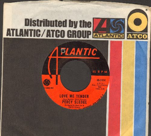 Sledge, Percy - Love Me Tender/What Am I Living For (with Atlantic company sleeve) (bb) - NM9/ - 45 rpm Records