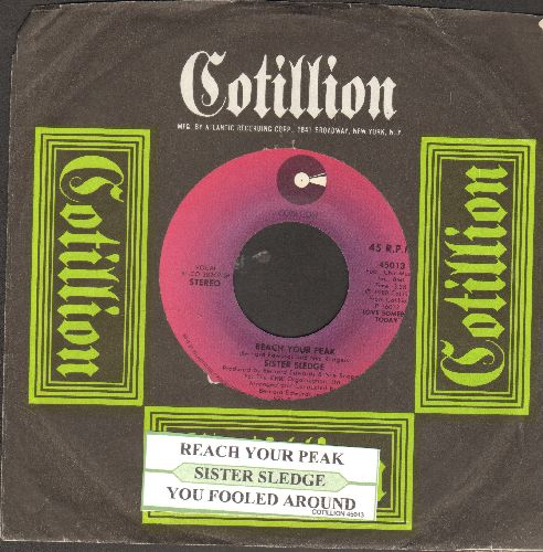 Sister Sledge - Reach Your Peak/You Fooled Around (with  juke box label and RARE Cotillion company sleeve) - NM9/ - 45 rpm Records