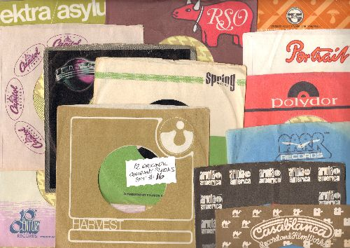 Company Sleeves - 12 Vintage Company Sleeves - Set #012-16 (exactly as pictured!) - Dress up your 7 inch vinyl records in original company sleeves of the 1950s & 60s. Good to excellent condition. - /EX8 - Supplies