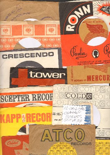Company Sleeves - 12 Vintage Company Sleeves - Set #012-33 (exactly as pictured!) - Dress up your 7 inch vinyl records in original company sleeves of the 1970s & 80s. Good to excellent condition. - /EX8/EX8 - Supplies