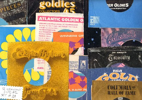 Company Sleeves - 12 Vintage Company Sleeves - Set #012-29 (exactly as pictured!) - Dress up your 7 inch vinyl records in company sleeves . Good to excellent condition. - /EX8/EX8 - Supplies