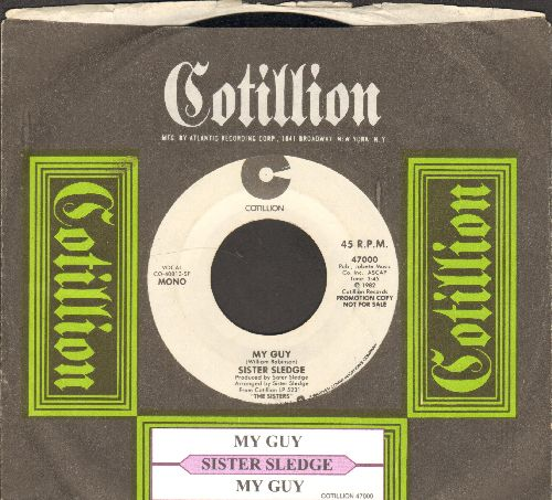 Sister Sledge - My Guy (double-A-sided DJ advance pressing with MONO and STEREO version, with juke box label and RARE company sleeve) - EX8/ - 45 rpm Records