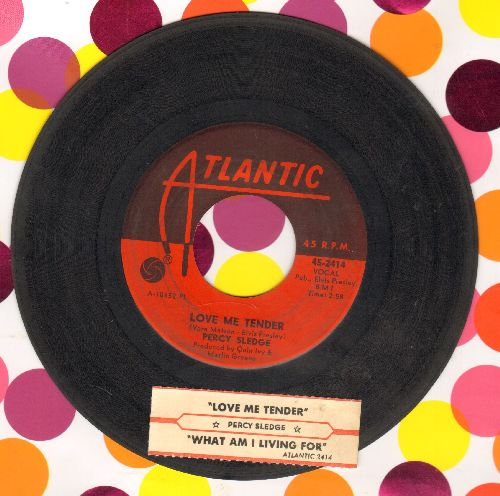 Sledge, Percy - Love Me Tender/What Am I Living For (with juke box label) - VG7/ - 45 rpm Records