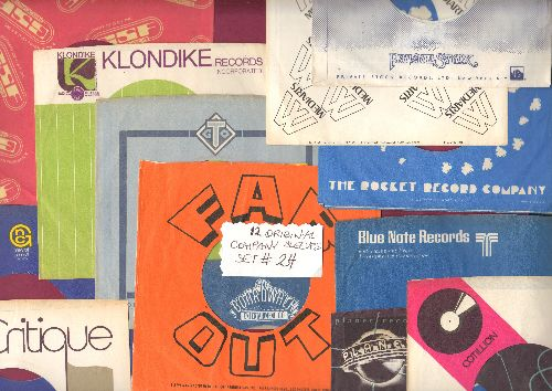 Company Sleeves - 12 Vintage Company Sleeves - Set #012-24 (exactly as pictured!) - Dress up your 7 inch vinyl records in original company sleeves of the 1970s. Good to excellent condition. - /EX8 - Supplies