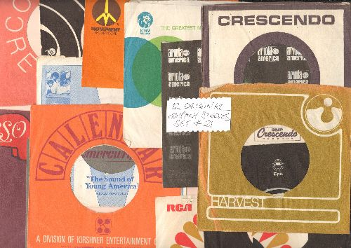Company Sleeves - 12 Vintage Company Sleeves - Set #012-21 (exactly as pictured!) - Dress up your 7 inch vinyl records in these re-issue company sleeves of the 1950s through 80s. Good to excellent condition. - EX8/EX8 - Supplies