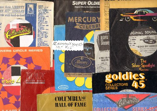 Company Sleeves - 12 Vintage Company Sleeves - Set #012-15 (exactly as pictured!) - Dress up your 7 inch vinyl records in these re-issue company sleeves of the 1950s through 80s. Good to excellent condition. - /EX8/EX8 - Supplies