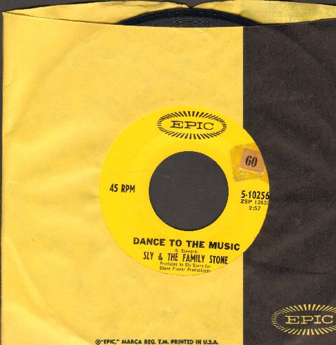 Sly & The Family Stone - Dance To The Music (featured in Disney film -Shrek-)/Let Me Hear It From You (with Epic company sleeve) - EX8/ - 45 rpm Records