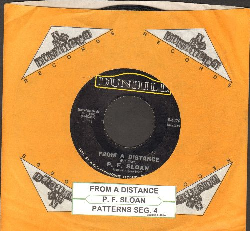 Sloan, P. F. - From A Distance/Patterns Seg 4 (with Dunhill company sleeve and juke box label) - VG7/ - 45 rpm Records
