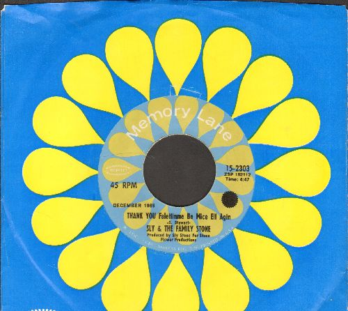 Sly & The Family Stone - Thank You/Everybody Is A Star (re-issue with company sleeve) - NM9/ - 45 rpm Records