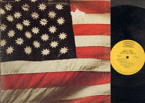 Sly & The Family Stone - There's A Riot Goin' On: Luv N' Haight, Family Affair, Spaced Cowboy, Runnin' Away (Vinyl STEREO LP record, gate-fold cover) - NM9/VG6 - LP Records