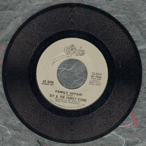 Sly & The Family Stone - Family Affair/Runnin' Away - M10/ - 45 rpm Records