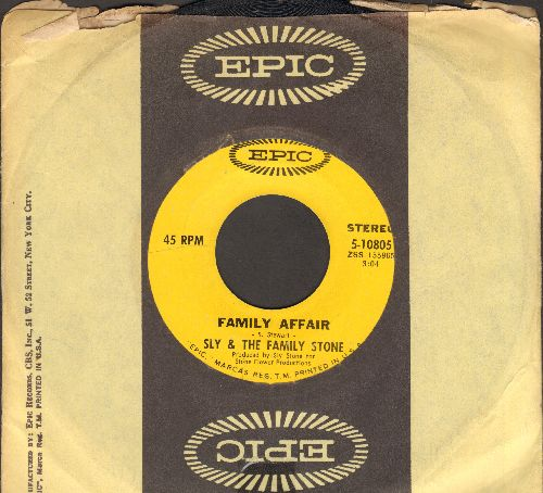 Sly & The Family Stone - Family Affair/Luv N' Haight (with Epic company sleeve) - EX8/ - 45 rpm Records