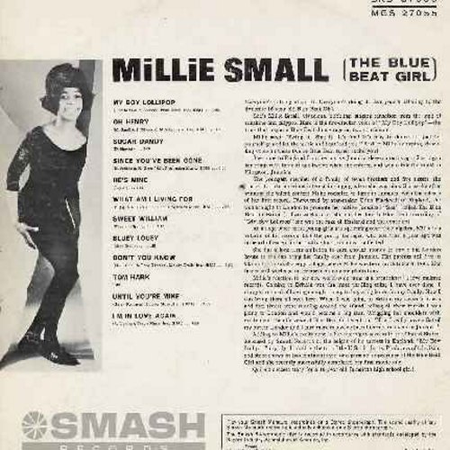 Small, Millie - My Boy Lollipop: Oh Henry, Since You've Been Gone, Sweet William, Bluey Louey, Tom Hark, I'm In Love Again, What Am I Living For, He's Mine (vinyl MONO LP record) (bb) - VG7/VG7 - LP Records