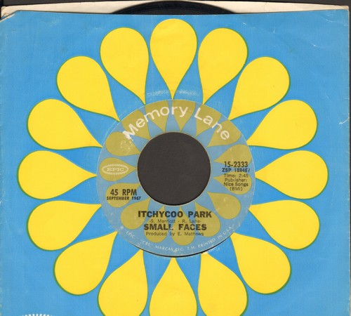 Small Faces - Itchycoo Park/I'm Only Dreaming (double-hit re-issue with company sleeve) - NM9/ - 45 rpm Records