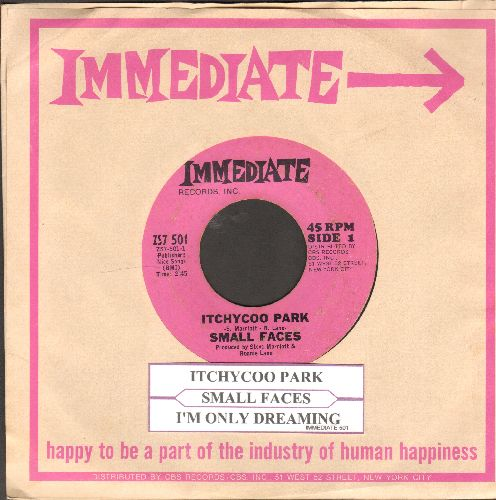 Small Faces - Itchycoo Park (It's All Too Beautiful)/I'm Only Dreaming (Original first issue of Rock Classic with RARE Immediate company sleeve and juke box label) - NM9/ - 45 rpm Records