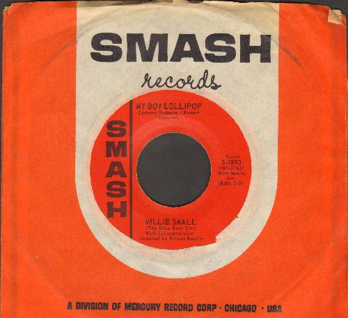 Small, Millie - My Boy Lollipop/Something's Gotta Be Done (MINT condition with vintage Smash company sleeve) - M10/ - 45 rpm Records